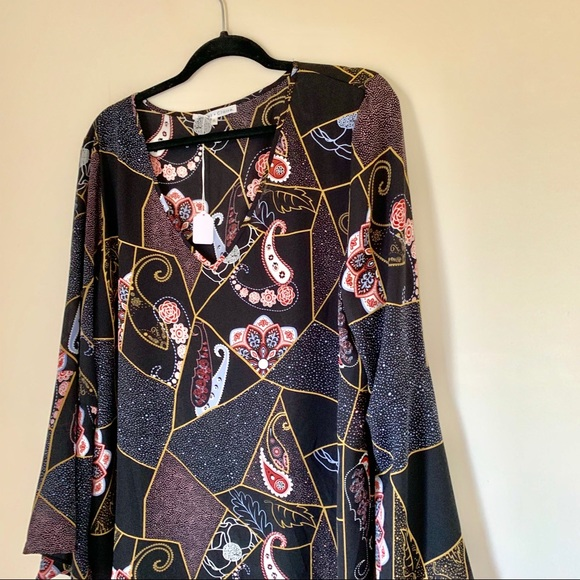 Tops - Bell Sleeves Paisley Blouse